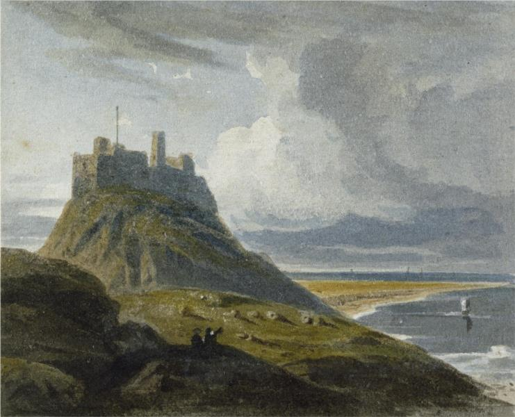 Holy Island Castle, 1810 - Джон Варли