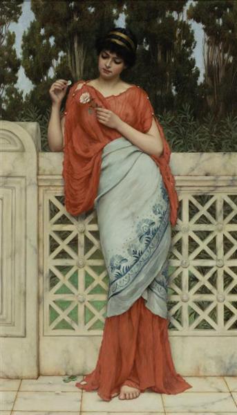 He Loves Me, He Loves Me Not, 1896 - John William Godward