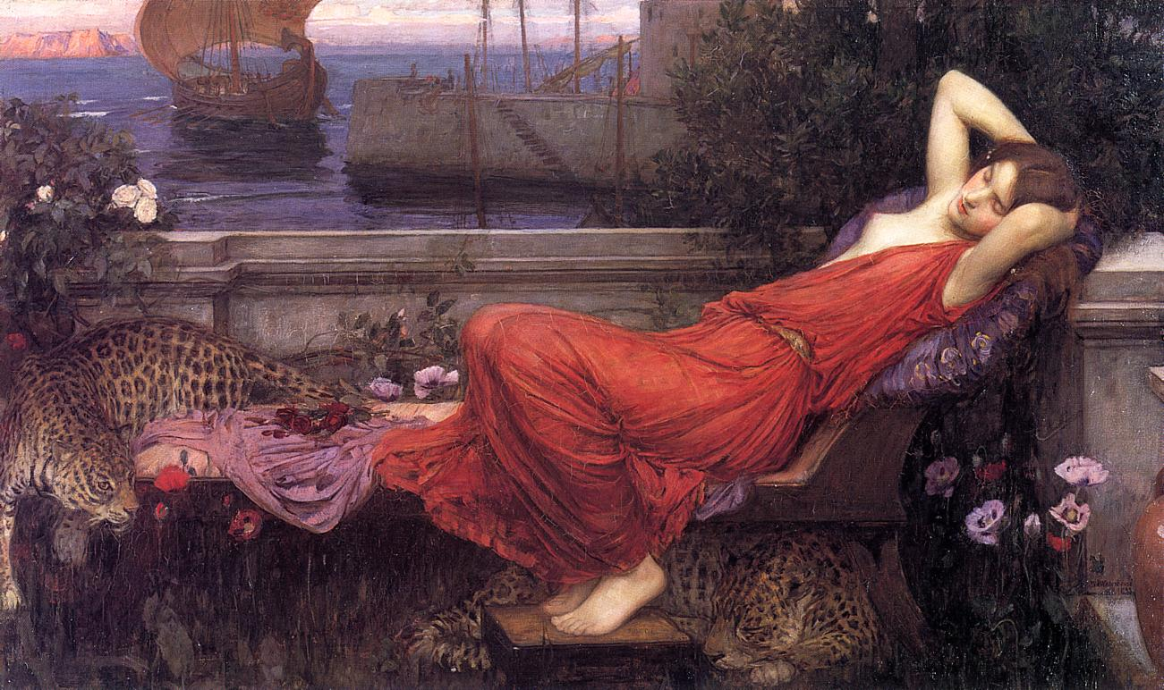 Image result for John william waterhouse ariadne pictures