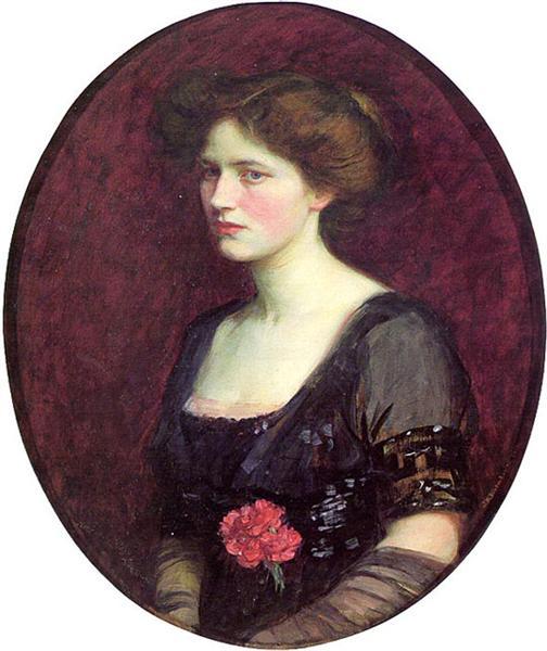 Portrait of Mrs.Charles Schreiber, 1912 - John William Waterhouse