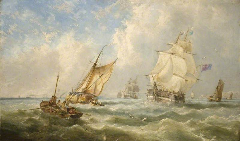 A Breezy Evening off the Mouth of the Mersey, 1841