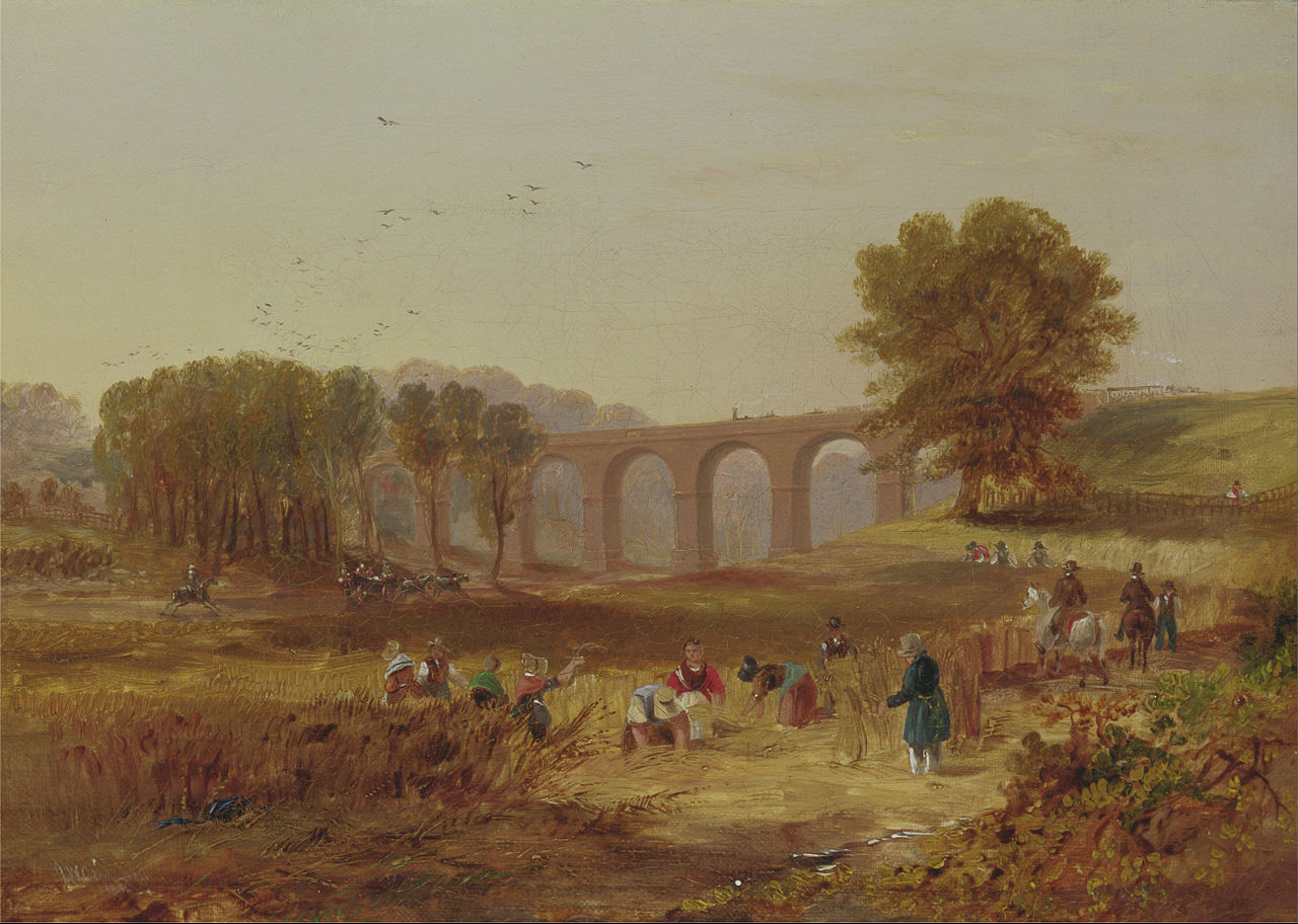 John Wilson Carmichael - Corby Viaduct, the Newcastle and Carlisle Railway, 1836