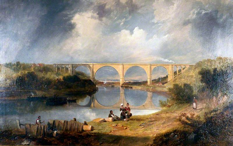 Victoria Bridge over the River Wear, 1838