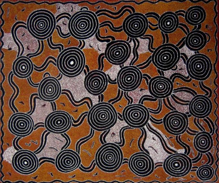 Tingari at Tjikarri, 1983 - Джонни Варангкула Тёпурулла