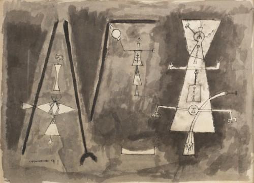 Acrobats, 1954 - Jorge Camacho