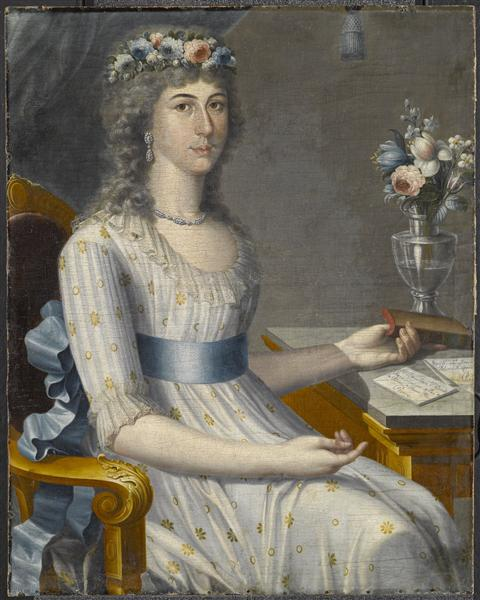 Doña María de los Dolores Gutiérrez del Mazo y Pérez, 1796 - José Campeche