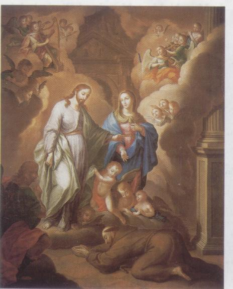 La Visión de San Fransisco, 1809 - José Campeche