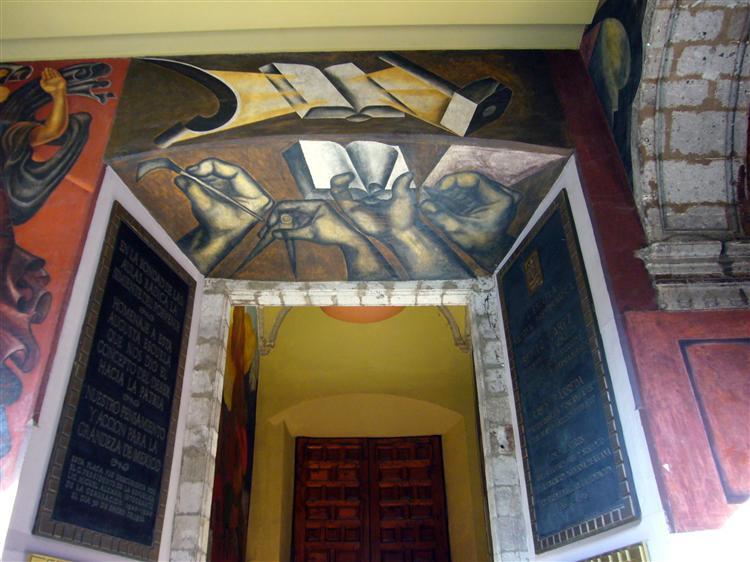 Entrance of Colegio de San Ildefonso, 1926 - Jose Clemente Orozco