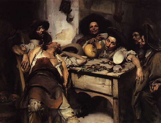 Os Bebados ou Festejando o S. Martinho, 1907 - Jose Malhoa