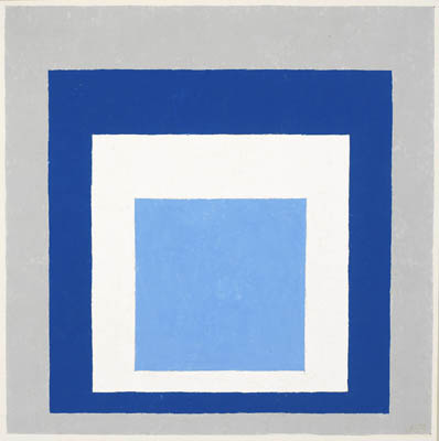 Homage To The Square Blue White Grey