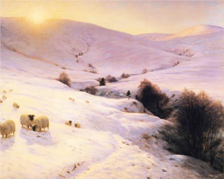And the Sun Peeped O'er Yon Southland Hills - Joseph Farquharson