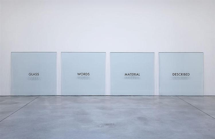 Glass Words Material Described, 1965 - Joseph Kosuth