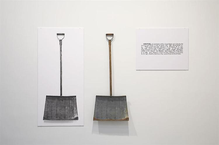 One and Three Shovels, 1965 - Joseph Kosuth