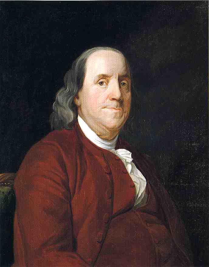 Benjamin Franklin 1782 Joseph Wright Wikiart Org