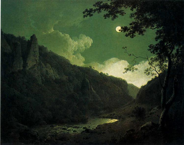 Dovedale by Moonlight, 1785 - Joseph Wright