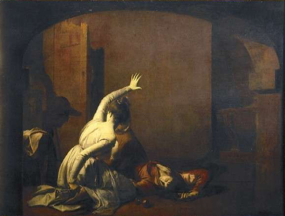 Romeo and Juliet: The Tomb Scene, 'Noise again! then I'll be brief', 1790 - Joseph Wright