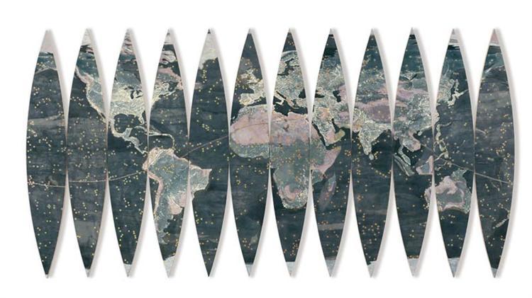 Dark and Light Continents, 2002 - Joyce Kozloff