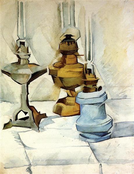 Three Lamps, 1910 - 1911 - Хуан Грис
