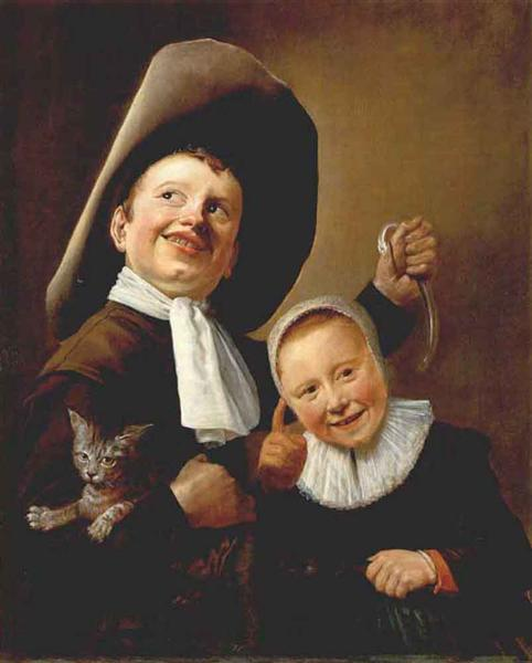 A Boy and a Girl with a Cat and an Eel, 1640 - Judith Leyster