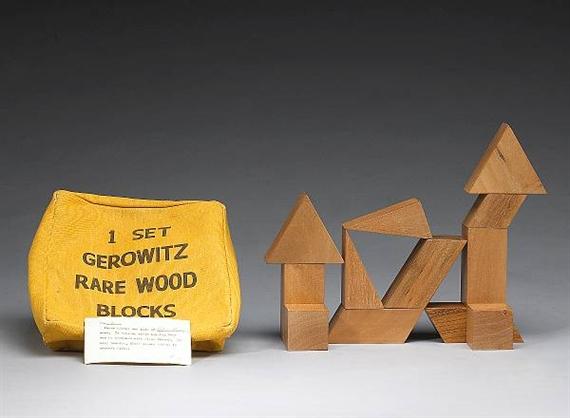 1 Set Gerowitz Rare Wood Blocks, No. 3, 1967 - Judy Chicago