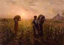 Fin du travail (also known as A travers champs) - Jules Breton