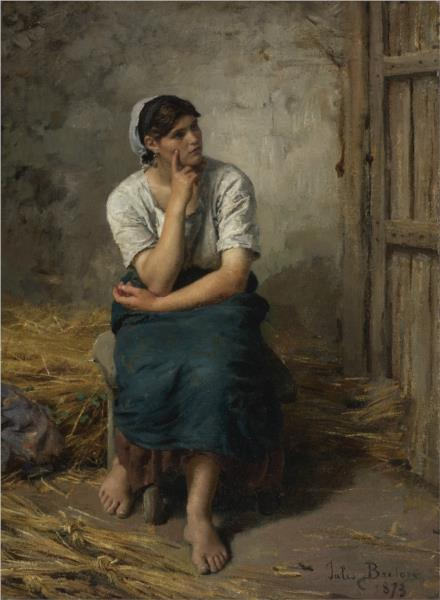 Paysanne au repos, 1873 - Jules Breton
