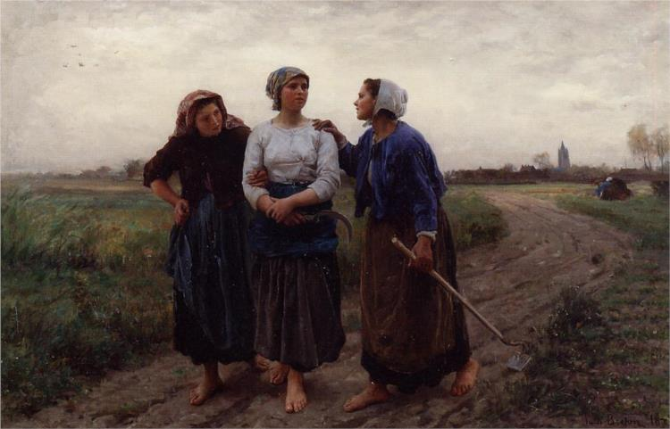 Setting out for the Fields, 1873 - Jules Breton