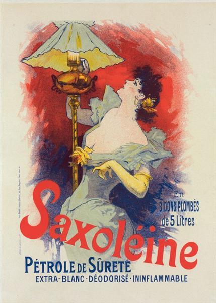 Saxoléine, Pétrole de sureté, 1900 - Jules Cheret