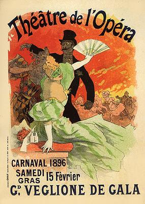 Théâtre de l'Opéra, Carnaval 1896, Grand Veglione de Gala, 1896 - Jules Cheret