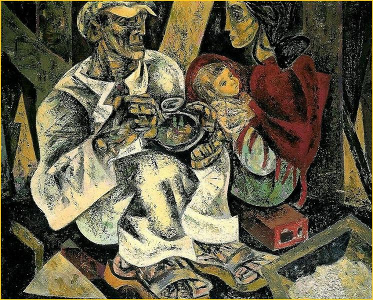 O Almoço do Trolha, 1950 - Julio Pomar