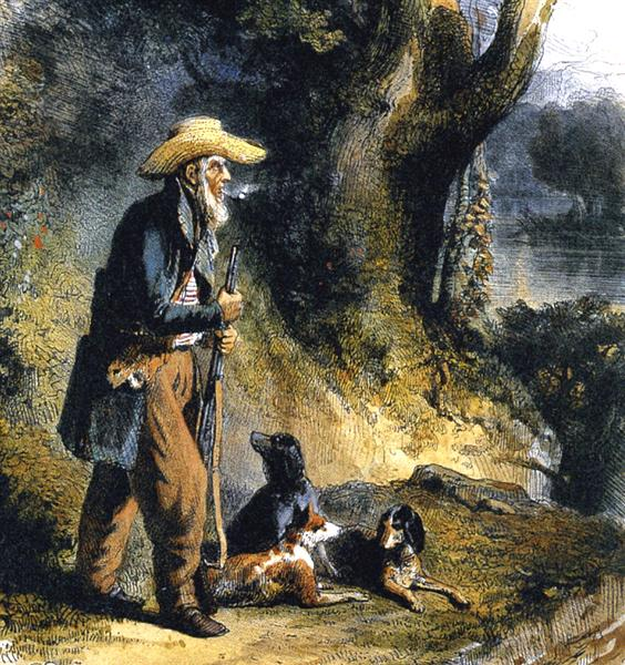 The Great Traveller Charles Alexandre Lesueur in the Forest - Karl Bodmer