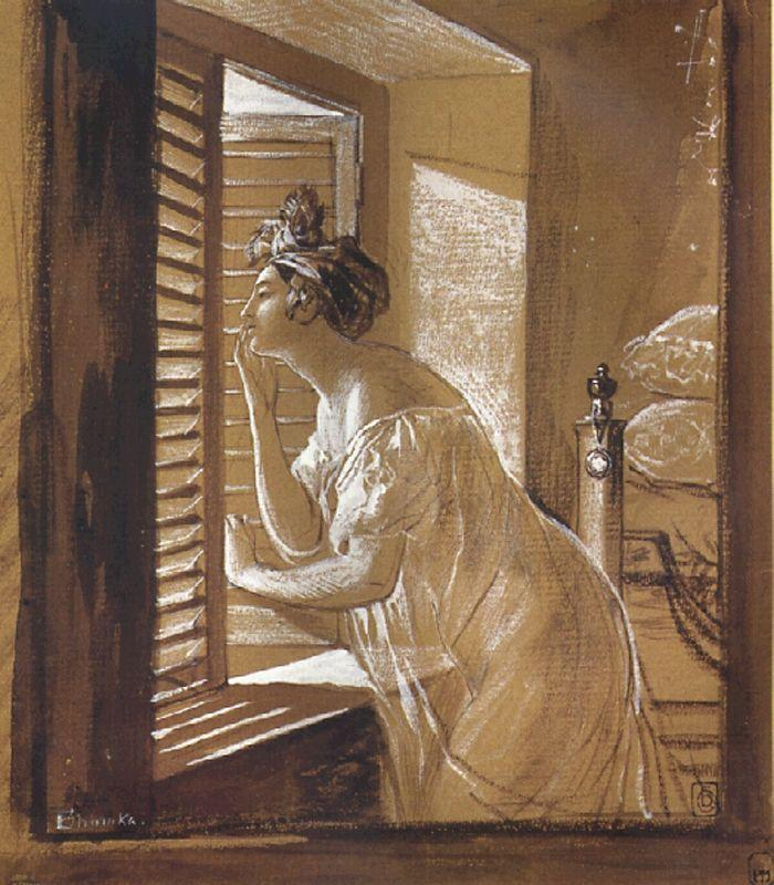 Italian Woman Blowing a Kiss, 1826