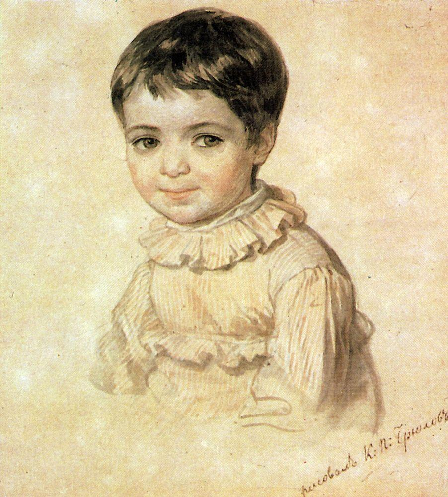 Portrait of Maria Kikina as a Child, 1817-1820