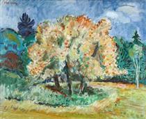 Late Afternoon: Apple Trees and Clouds - Karl Schrag