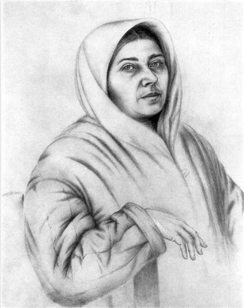 Self-portrait, 1950 - Kateryna Bilokur
