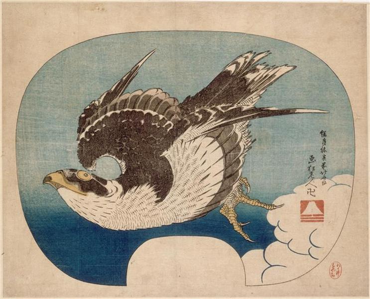 Falconinflight - Katsushika Hokusai