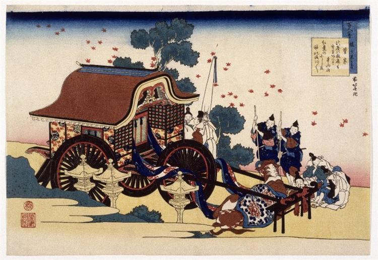 The Bullock Cart, 1839 - Кацусика Хокусай