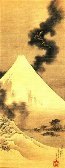 Il drago di fumo fuggendo dal monte Fuji - Katsushika Hokusai