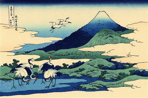 Umegawa in Sagami province - Katsushika Hokusai