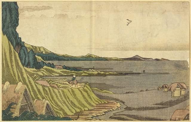 View ofthebeachatlow tideNobotofrom the coasttoGyôtoku - Katsushika Hokusai