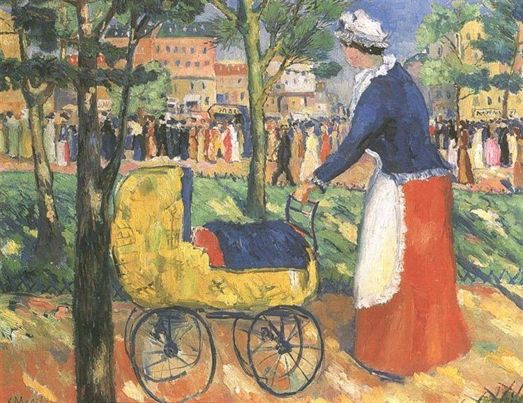 Boulevard, c.1930 - Kasimir Sewerinowitsch Malewitsch
