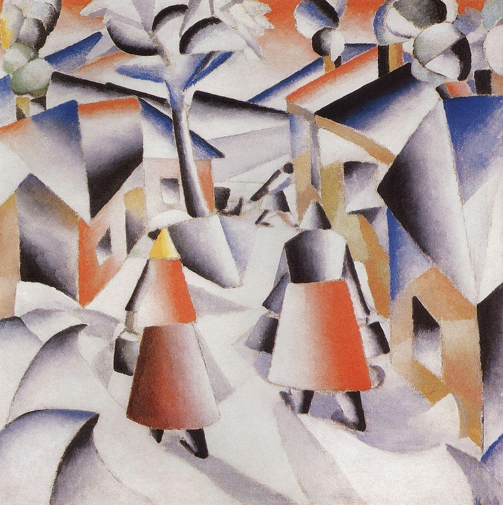 Kazimir Malevich Paintings Morning in the V...