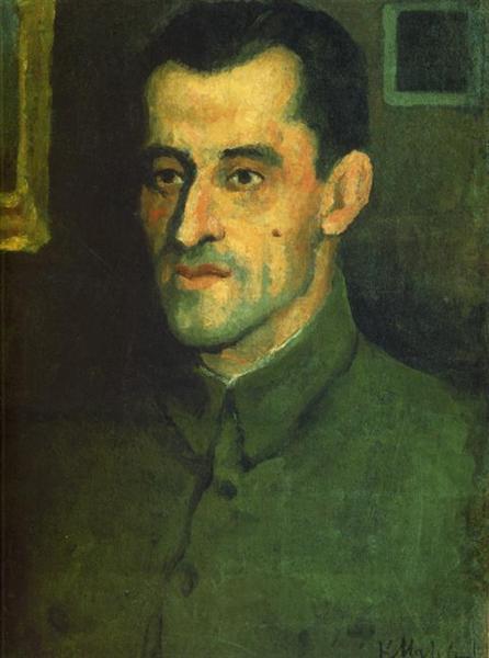 Portrait of V.A.Pavlov, 1933 - Kasimir Sewerinowitsch Malewitsch