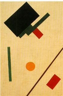 Suprematist composition - Kasimir Sewerinowitsch Malewitsch