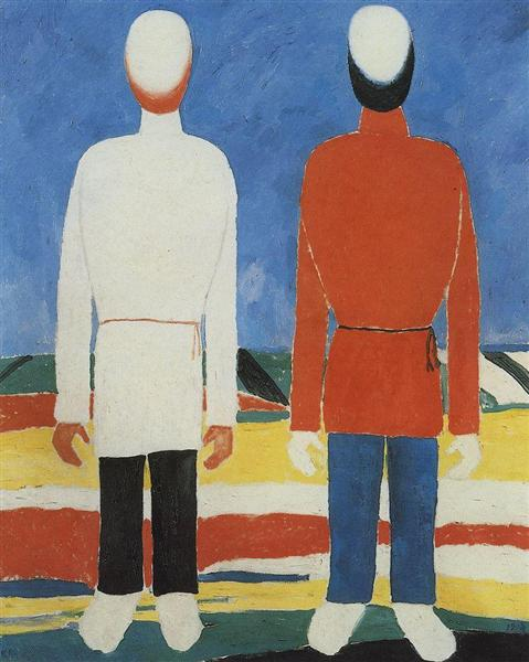 Two Male Figures, 1930 - Kazimir Malevich
