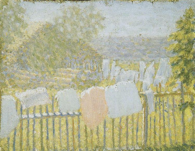 Underwear on the fence - Kazimir Malevich