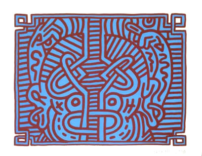 Chocolate Buddha 1, 1989 - Keith Haring