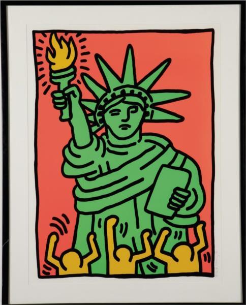 Statue of Liberty, 1986 - Кит Харинг