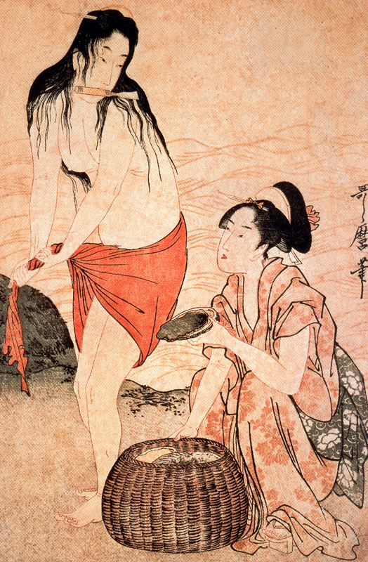 Girls Pearl Divers Kitagawa Utamaro Wikiart Org