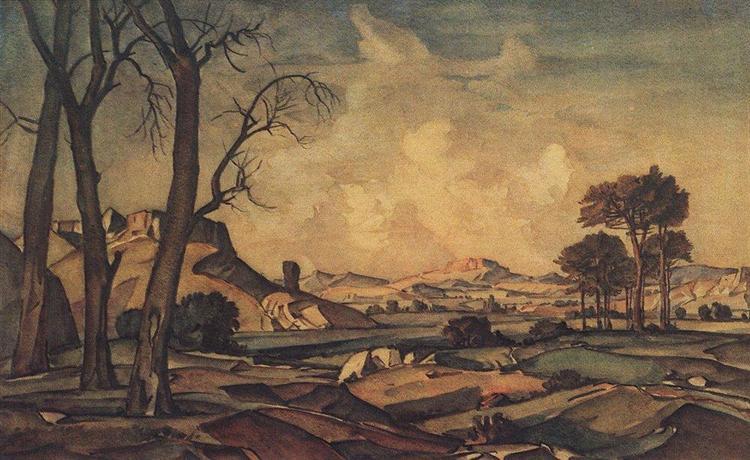 Осенний вечер, c.1925 - Константин Богаевский